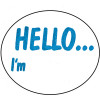 AVERY DMO5843HE DISPENSR LABEL Printed  Hello I'm 58x43 Blue