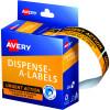 AVERY DMR1964R2 DISPENSER LBL Printed Urgent Action Orange