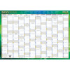 Writeraze Dated Wall Planner 500x700mm Recycled Green