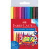 FABER-CASTELL TRI GRIP MARKERS Triangular Assorted 10s