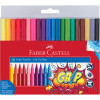 FABER-CASTELL TRI GRIP MARKERS Triangular Assorted 20s