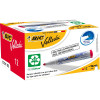 BIC WHITEBOARD 1701 ECO MARKER Red, Bullet Tip Pack of 12
