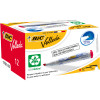 BIC WHITEBOARD 1751 ECO MARKER Red, Chisel Tip Pack of 12
