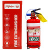 EXELGARD CO2 EXTINGUISHER 1Kg Abe Fire Ext + Bracket