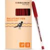BIBBULMUN BALLPOINT PEN MEDIUM Red Pack of 12