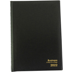 BUSINESS DIARY A5 2 Days to a Page 1 Hr 1Hr appoint 7am - 7pm