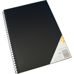 Quill Visual Art Diary 110GSM A4 Black 120 Pages