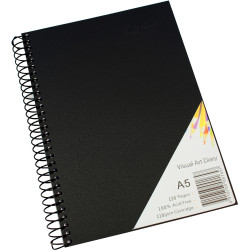 Quill Visual Art Diary PP 110GSM A5 Black 120 Pages