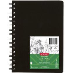 Derwent Academy Visual Art Diary A5 120 Page Portrait Black