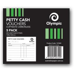 OYLMPIC PETTY CASH PAD Singles 50Leaf 100x120mm