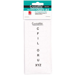CRYSTALFILE INDICATOR INSERTS New Style A-Z White