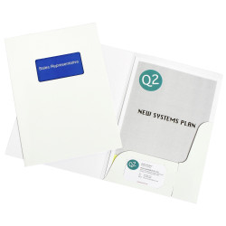 MARBIG PRESENTATION FOLDERS Pro Series A4 Window Gloss