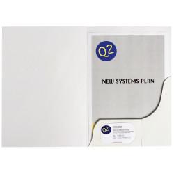 Marbig Professional Series Presentation Folders A4 Gloss White Box Of 50