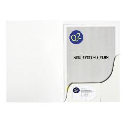 Marbig Professional Series Presentation Folders A4 Matte White Box Of 50