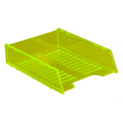 ITALPLAST NEON DOCUMENT TRAY Multifit - Neon Yellow