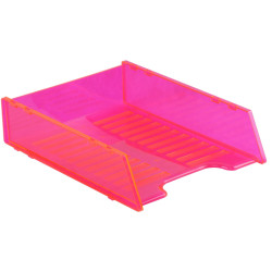 ITALPLAST NEON DOCUMENT TRAY Multifit - Neon Red