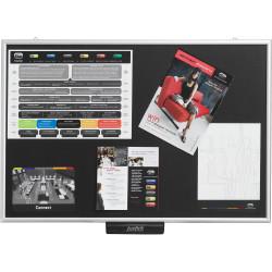 Justick Electro Adhesion Noticeboard 600x900mm Black