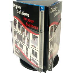 Deflecto Brochure Holder A4 Counter Top Rotating Black