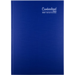 CUMBERLAND PREMIUM CASEBOUND A4 1 day to a page 1/4 Hr Blue