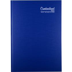 CUMBERLAND PREMIUM CASEBOUND A4 2 days to a page 1Hr Blue