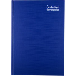CUMBERLAND PREMIUM CASEBOUND A5 1 day to a page 1/2 Hr Blue