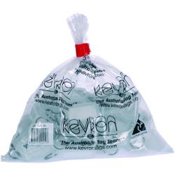 KEVRON KEY TAGS ID5 CLEAR Pack of 50 56 x 30mm
