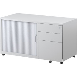 Steelco Trimline Mobile Caddy 615Hx1050Wx500mmD Right Hand Drawer Orientation White