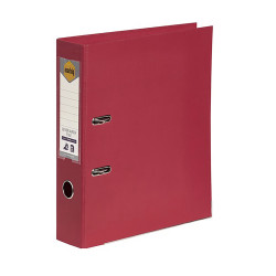 MARBIG PE LINEN LEVER ARCH A4 Deep Red