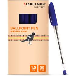 BIBBULMUN BALLPOINT PEN MEDIUM Blue Pack of 50