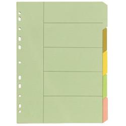 BIBBULMUN MANILLA DIVIDER A4 5 Tab Pastel