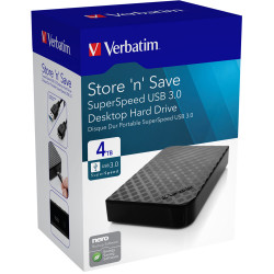 VERBATIM 4TB PORTABLE Hard Drive Black USB 3.0