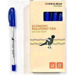 BIBBULMUN BALLPOINT PEN Economy Blue Pack of 12