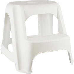"ITALPLAST STEP STOOL ""Double Step"" White"