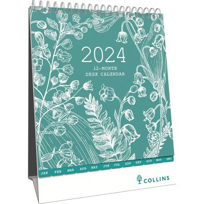 Collins Desktop Calendar 175x220mm Month To View Tara