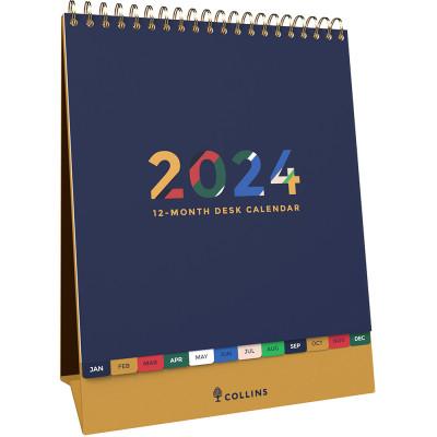 Collins Desktop Calendar 175x220mm Month To View Edge Mira