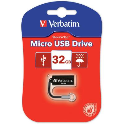 VERBATIM STORE'N'GO DRIVE Micro 32GB USB Black