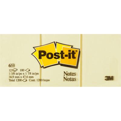 POST-IT 653 NOTES ORIGINAL 100Shts 36x48mm Yellow