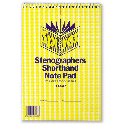 SPIRAX 566A NOTEBOOK S/GRAPHER 200 Page 225x152mm T/O