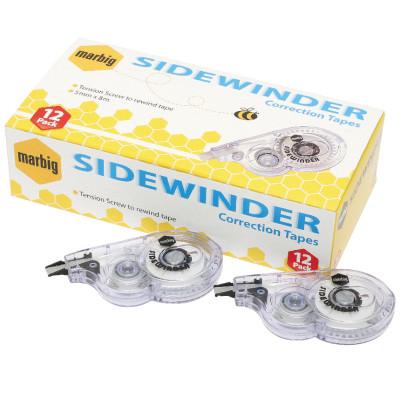 MARBIG CORRECTION TAPE SideWinder 5mmx8m White Bx12