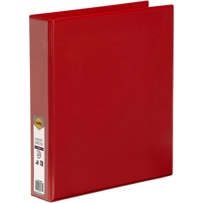 Marbig Clearview Insert Binder A4 2D Ring 38mm Red