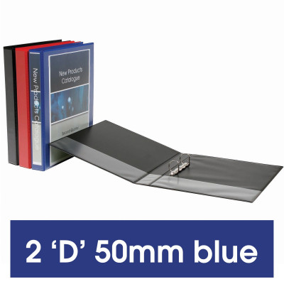 MARBIG ENVIRO INSERT BINDERS Clearview A4 2D Ring 50mm Blue