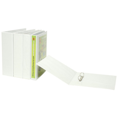 MARBIG ENVIRO INSERT BINDERS Clearview A4 3D Ring 65mm Wht
