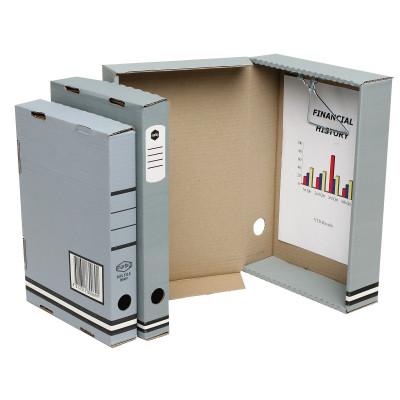 MARBIG BOX FILE W/METAL CLIP A4 80mm Spring 85x240x330 Grey