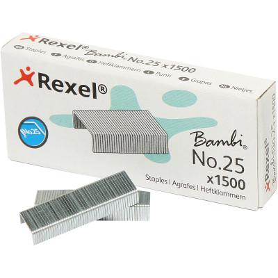 Rexel No. 25 Staples 25/4 Box Of 1500