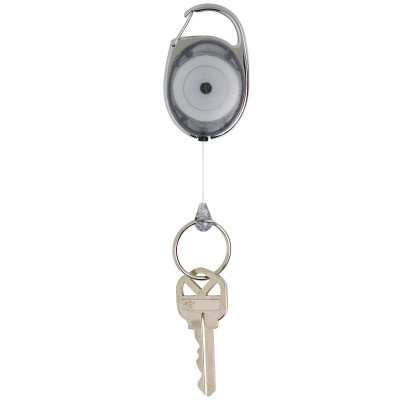 REXEL SNAP LOCK KEY HOLDER Retractable Charcoal