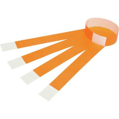 REXEL WRIST BANDS W/Serial Number Fluoro Orange Pack of 100