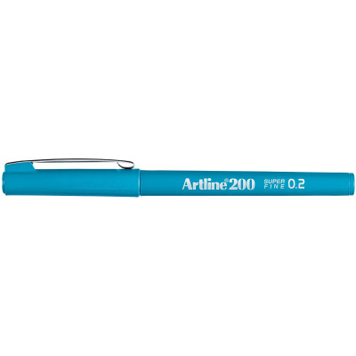 Artline 220 0.2mm Fineliner Pen Sky Blue BX12