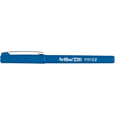 Artline 220 0.2mm Fineliner Pen Royal Blue BX12